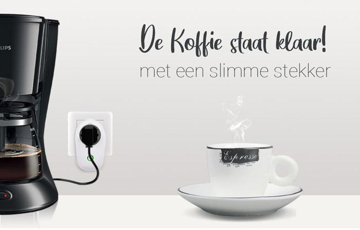 koffie met een slimme stekker