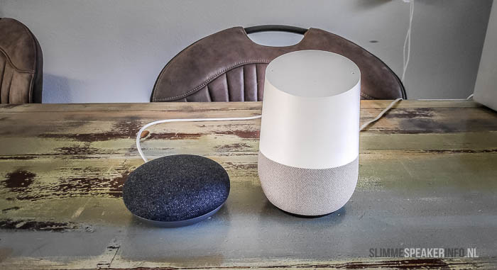 formaat google home tov google home mini