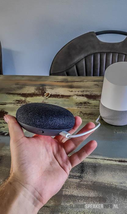 google home mini microfoon uitschakelen