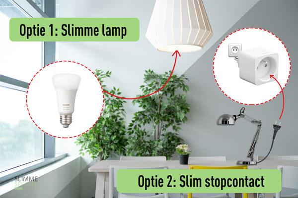draadloze lampen bedienen met telefoon app