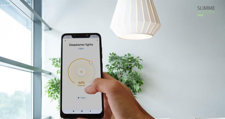 smart verlichting op afstand bedienen met app